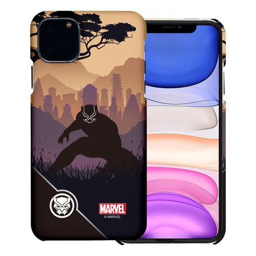 iPhone 12 Pro / iPhone 12 Case (6.1inch) Marvel Avengers [Slim Fit] Thin Hard Matte Surface Excellent Grip Cover - Shadow Black Panther