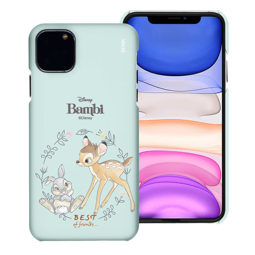 iPhone 11 Pro Max Case (6.5inch) [Slim Fit] Disney Bambi Thin Hard Matte Surface Excellent Grip Cover - Full Bambi Thumper