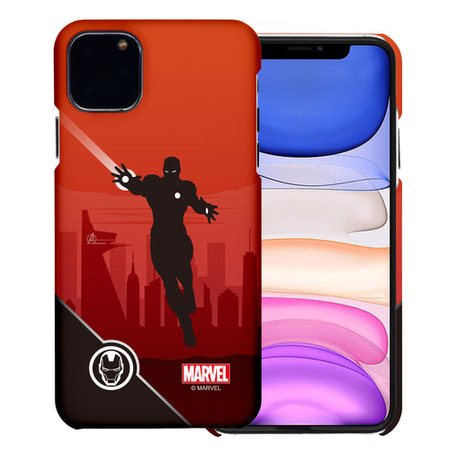 iPhone 11 Case (6.1inch) Marvel Avengers [Slim Fit] Thin Hard Matte Surface Excellent Grip Cover - Shadow Iron Man