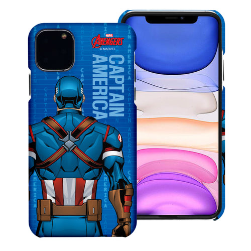 iPhone 11 Case (6.1inch) Marvel Avengers [Slim Fit] Thin Hard Matte Surface Excellent Grip Cover - Back Captain America