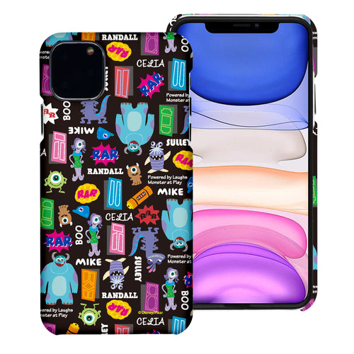 iPhone 11 Case (6.1inch) [Slim Fit] Monsters University inc Thin Hard Matte Surface Excellent Grip Cover - Pattern Name Black