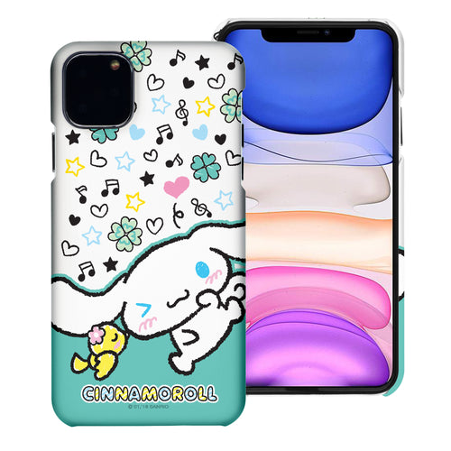 iPhone 11 Case (6.1inch) [Slim Fit] Sanrio Thin Hard Matte Surface Excellent Grip Cover - Kiss Cinnamoroll