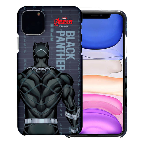 iPhone 12 Pro / iPhone 12 Case (6.1inch) Marvel Avengers [Slim Fit] Thin Hard Matte Surface Excellent Grip Cover - Back Black Panther