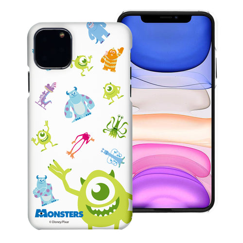 iPhone 11 Case (6.1inch) [Slim Fit] Monsters University inc Thin Hard Matte Surface Excellent Grip Cover - Pattern Monsters
