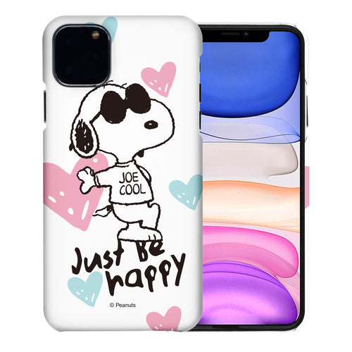iPhone 11 Pro Case (5.8inch) [Slim Fit] PEANUTS Thin Hard Matte Surface Excellent Grip Cover - Snoopy Love Pink