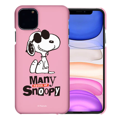 iPhone 11 Pro Case (5.8inch) [Slim Fit] PEANUTS Thin Hard Matte Surface Excellent Grip Cover - Snoopy Face Baby pink