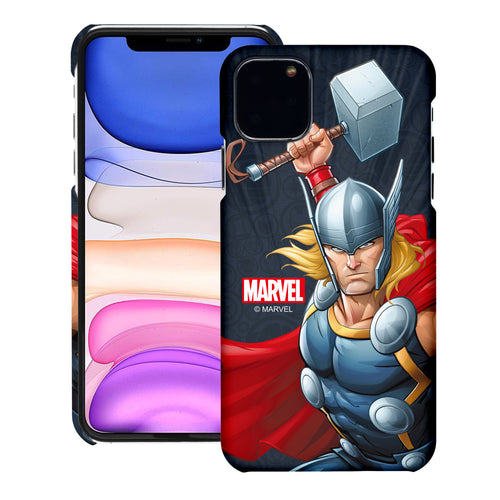 iPhone 11 Case (6.1inch) Marvel Avengers [Slim Fit] Thin Hard Matte Surface Excellent Grip Cover - Illustration Thor