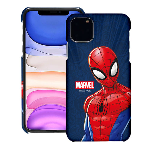 iPhone 11 Case (6.1inch) Marvel Avengers [Slim Fit] Thin Hard Matte Surface Excellent Grip Cover - Illustration Spider Man