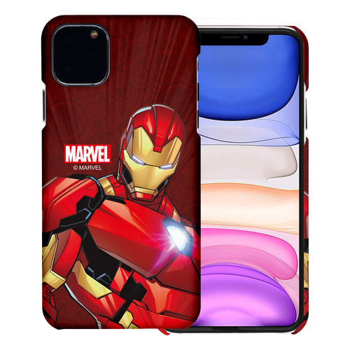 iPhone 11 Case (6.1inch) Marvel Avengers [Slim Fit] Thin Hard Matte Surface Excellent Grip Cover - Illustration Iron Man