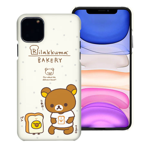 iPhone 11 Pro Max Case (6.5inch) [Slim Fit] Rilakkuma Thin Hard Matte Surface Excellent Grip Cover - Rilakkuma Bread
