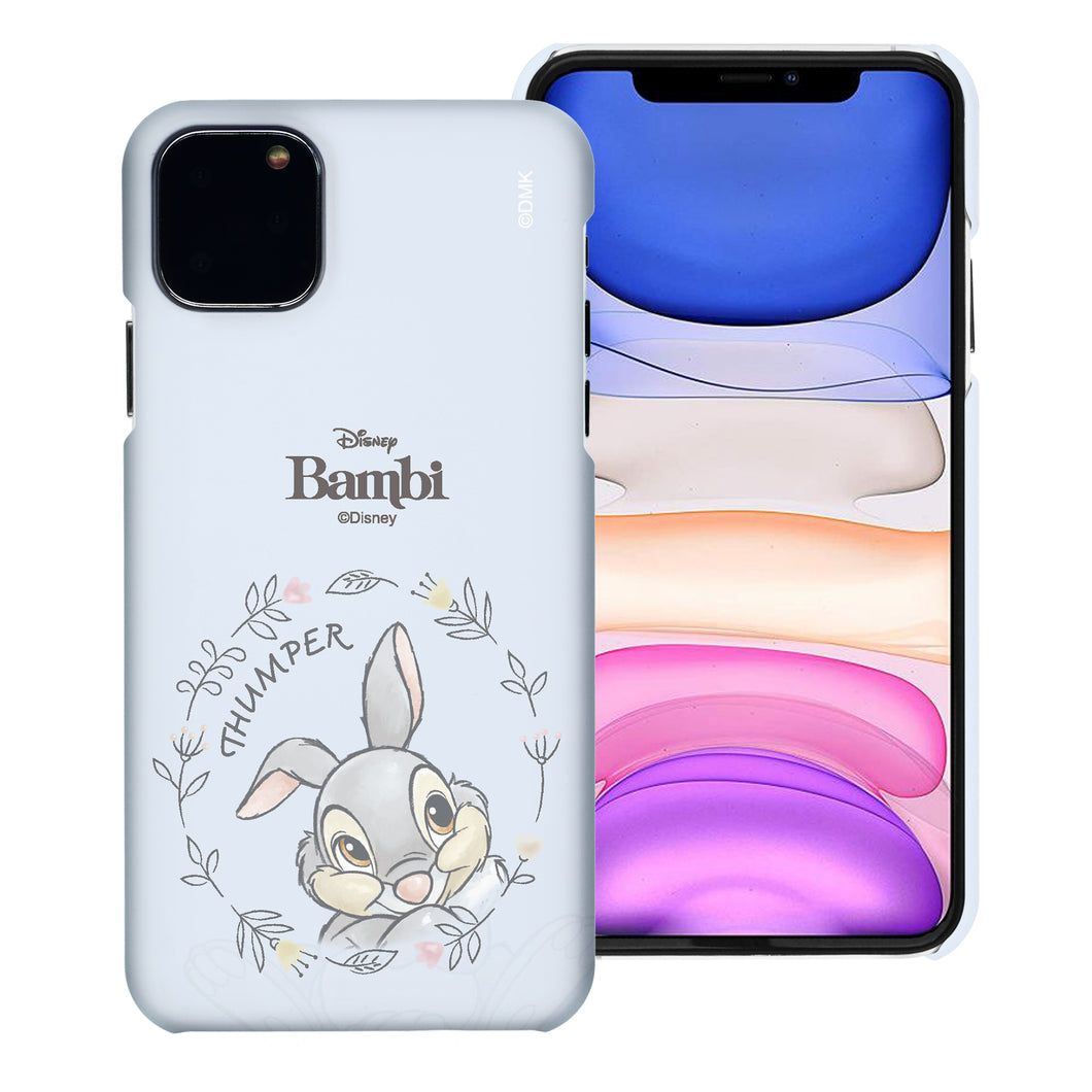 iPhone 12 Pro / iPhone 12 Case (6.1inch) [Slim Fit] Disney Bambi Thin Hard Matte Surface Excellent Grip Cover - Face Thumper
