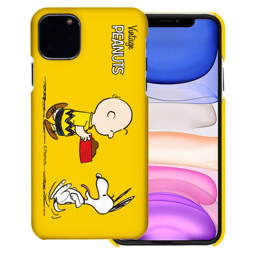 iPhone 11 Pro Case (5.8inch) [Slim Fit] PEANUTS Thin Hard Matte Surface Excellent Grip Cover - Cute Snoopy Food