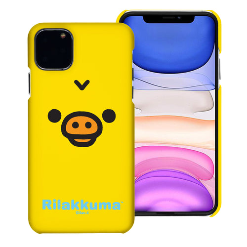 iPhone 11 Pro Max Case (6.5inch) [Slim Fit] Rilakkuma Thin Hard Matte Surface Excellent Grip Cover - Face Kiiroitori