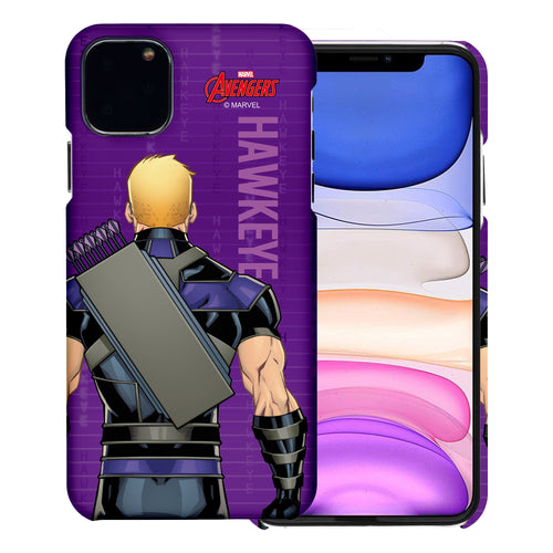 iPhone 11 Case (6.1inch) Marvel Avengers [Slim Fit] Thin Hard Matte Surface Excellent Grip Cover - Back Hawkeye