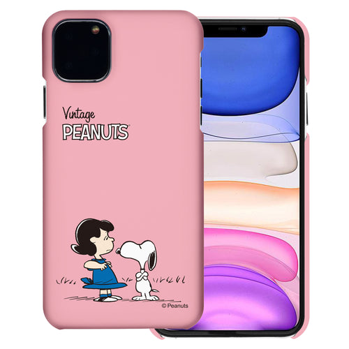 iPhone 12 mini Case (5.4inch) [Slim Fit] PEANUTS Thin Hard Matte Surface Excellent Grip Cover - Small Snoopy Lucy
