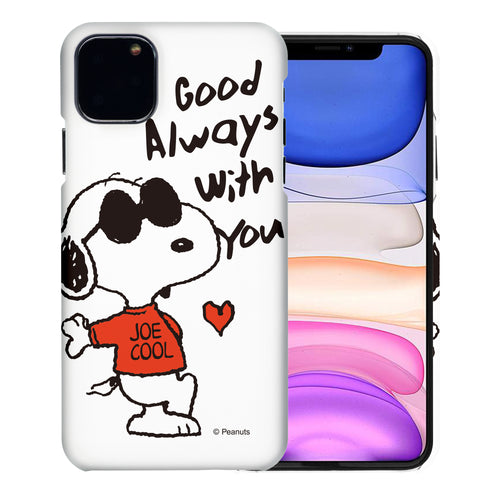iPhone 11 Pro Case (5.8inch) [Slim Fit] PEANUTS Thin Hard Matte Surface Excellent Grip Cover - Snoopy Love Red