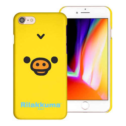 iPhone SE 2020 / iPhone 8 / iPhone 7 Case (4.7inch) [Slim Fit] Rilakkuma Thin Hard Matte Surface Excellent Grip Cover - Face Kiiroitori