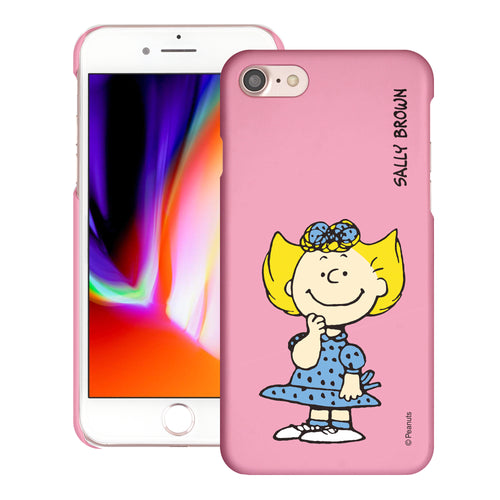 iPhone SE 2020 / iPhone 8 / iPhone 7 Case (4.7inch) [Slim Fit] PEANUTS Thin Hard Matte Surface Excellent Grip Cover - Smile Sally