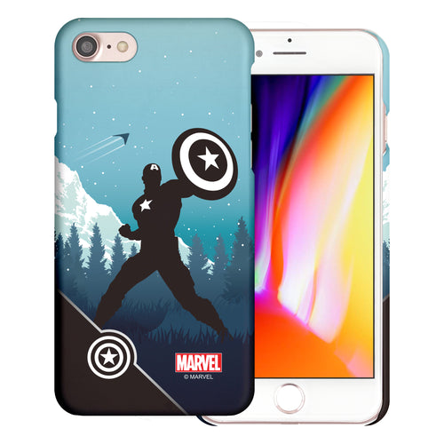 iPhone 8 Plus / iPhone 7 Plus Case Marvel Avengers [Slim Fit] Thin Hard Matte Surface Excellent Grip Cover - Shadow Captain America