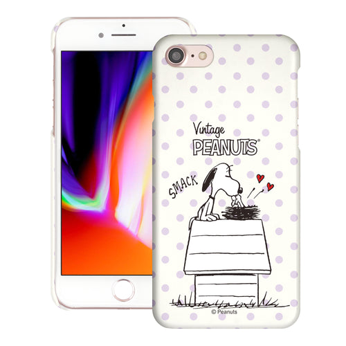 iPhone SE 2020 / iPhone 8 / iPhone 7 Case (4.7inch) [Slim Fit] PEANUTS Thin Hard Matte Surface Excellent Grip Cover - Smack Snoopy Birds