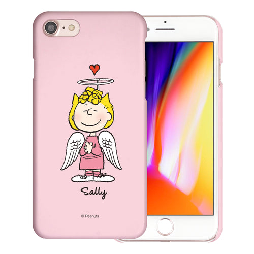 iPhone SE 2020 / iPhone 8 / iPhone 7 Case (4.7inch) [Slim Fit] PEANUTS Thin Hard Matte Surface Excellent Grip Cover - Sally Heart Stand