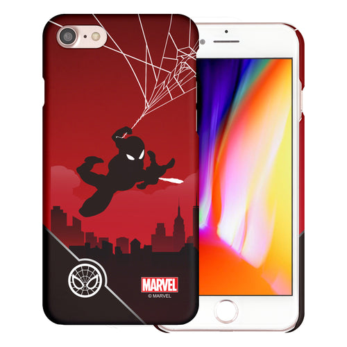 iPhone 8 Plus / iPhone 7 Plus Case Marvel Avengers [Slim Fit] Thin Hard Matte Surface Excellent Grip Cover - Shadow Spider Man