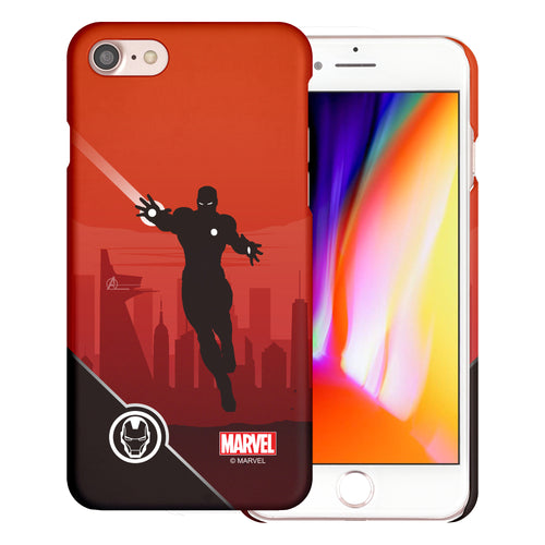 iPhone 8 Plus / iPhone 7 Plus Case Marvel Avengers [Slim Fit] Thin Hard Matte Surface Excellent Grip Cover - Shadow Iron Man