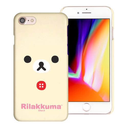 iPhone SE 2020 / iPhone 8 / iPhone 7 Case (4.7inch) [Slim Fit] Rilakkuma Thin Hard Matte Surface Excellent Grip Cover - Face Korilakkuma