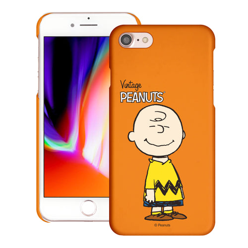 iPhone 6S / iPhone 6 Case (4.7inch) [Slim Fit] PEANUTS Thin Hard Matte Surface Excellent Grip Cover - Simple Charlie Brown