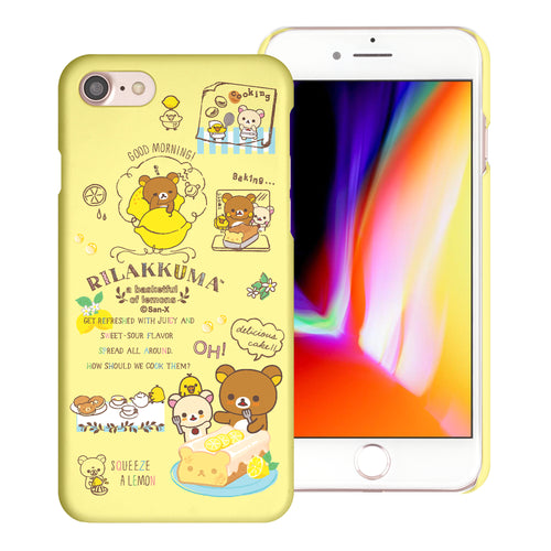 iPhone SE 2020 / iPhone 8 / iPhone 7 Case (4.7inch) [Slim Fit] Rilakkuma Thin Hard Matte Surface Excellent Grip Cover - Rilakkuma Cooking
