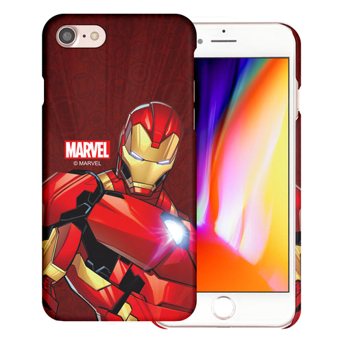 iPhone 8 Plus / iPhone 7 Plus Case Marvel Avengers [Slim Fit] Thin Hard Matte Surface Excellent Grip Cover - Illustration Iron Man