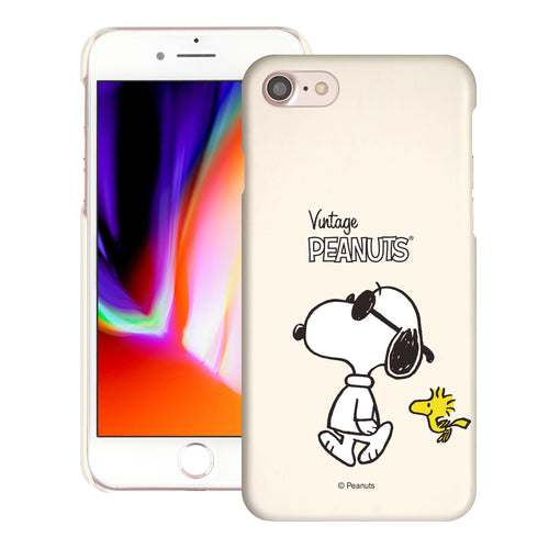 iPhone SE 2020 / iPhone 8 / iPhone 7 Case (4.7inch) [Slim Fit] PEANUTS Thin Hard Matte Surface Excellent Grip Cover - Vivid Snoopy Woodstock