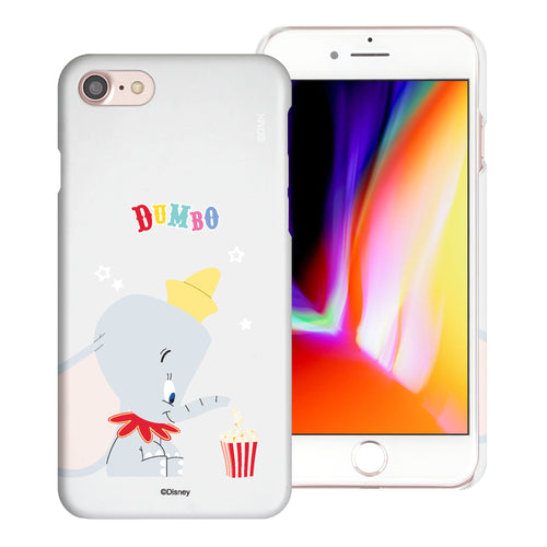 iPhone SE 2020 / iPhone 8 / iPhone 7 Case (4.7inch) [Slim Fit] Disney Dumbo Thin Hard Matte Surface Excellent Grip Cover - Dumbo Popcorn