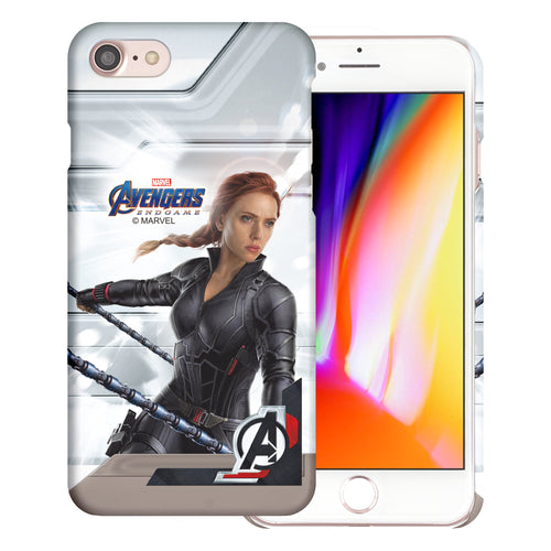 iPhone 8 Plus / iPhone 7 Plus Case Marvel Avengers [Slim Fit] Thin Hard Matte Surface Excellent Grip Cover - End Game Black Widow