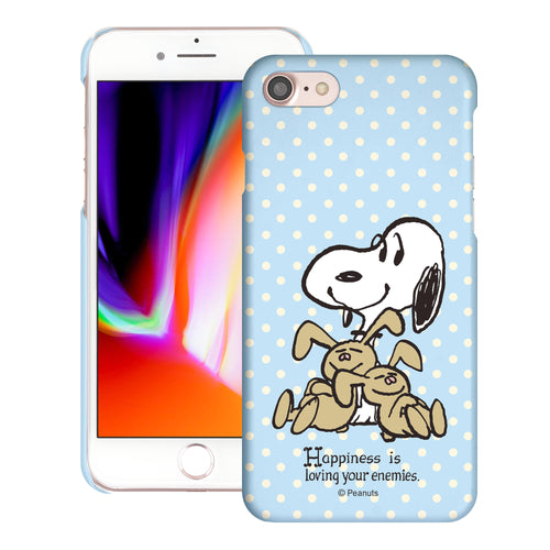 iPhone SE 2020 / iPhone 8 / iPhone 7 Case (4.7inch) [Slim Fit] PEANUTS Thin Hard Matte Surface Excellent Grip Cover - Hug Snoopy Bunnies