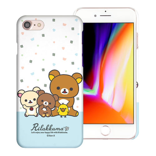 iPhone SE 2020 / iPhone 8 / iPhone 7 Case (4.7inch) [Slim Fit] Rilakkuma Thin Hard Matte Surface Excellent Grip Cover - Rilakkuma Friends