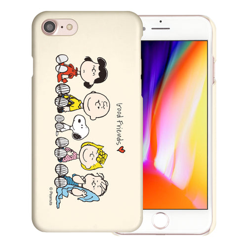 iPhone SE 2020 / iPhone 8 / iPhone 7 Case (4.7inch) [Slim Fit] PEANUTS Thin Hard Matte Surface Excellent Grip Cover - Peanuts Friends Sit