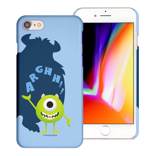 iPhone 8 Plus / iPhone 7 Plus Case [Slim Fit] Monsters University inc Thin Hard Matte Surface Excellent Grip Cover - Simple Mike