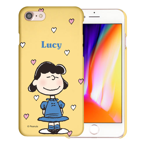 iPhone SE 2020 / iPhone 8 / iPhone 7 Case (4.7inch) [Slim Fit] PEANUTS Thin Hard Matte Surface Excellent Grip Cover - Lucy Heart Stand
