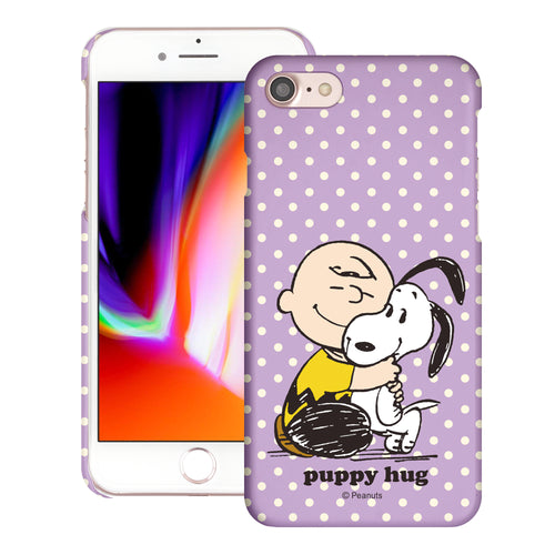 iPhone SE 2020 / iPhone 8 / iPhone 7 Case (4.7inch) [Slim Fit] PEANUTS Thin Hard Matte Surface Excellent Grip Cover - Hug Charlie Brown