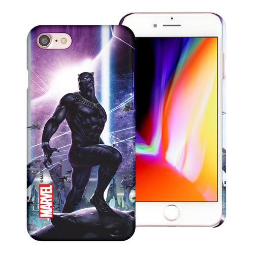 iPhone 8 Plus / iPhone 7 Plus Case Marvel Avengers [Slim Fit] Thin Hard Matte Surface Excellent Grip Cover - Black Panther Stand