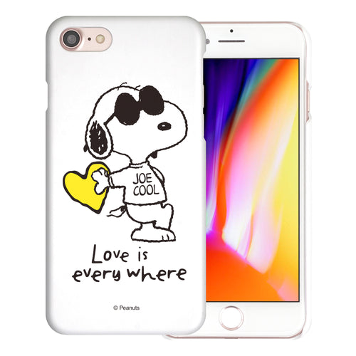 iPhone 6S / iPhone 6 Case (4.7inch) [Slim Fit] PEANUTS Thin Hard Matte Surface Excellent Grip Cover - Snoopy Love Yellow