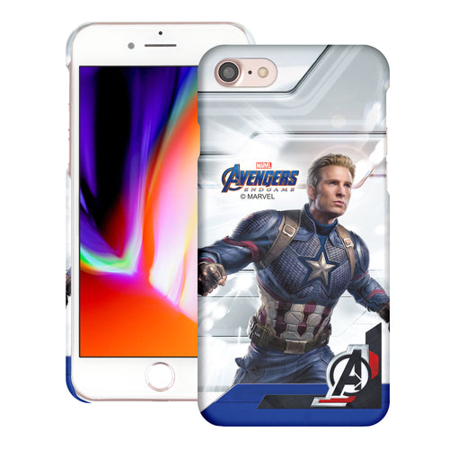 iPhone 8 Plus / iPhone 7 Plus Case Marvel Avengers [Slim Fit] Thin Hard Matte Surface Excellent Grip Cover - End Game Captain America