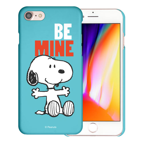 iPhone 6S / iPhone 6 Case (4.7inch) [Slim Fit] PEANUTS Thin Hard Matte Surface Excellent Grip Cover - Snoopy Be Mine Cyan