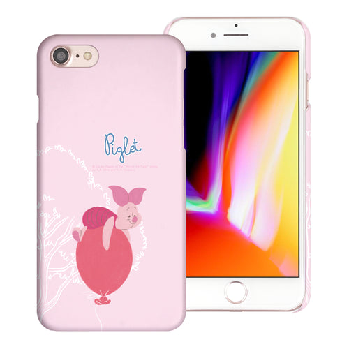 iPhone SE 2020 / iPhone 8 / iPhone 7 Case (4.7inch) [Slim Fit] Disney Pooh Thin Hard Matte Surface Excellent Grip Cover - Balloon Piglet