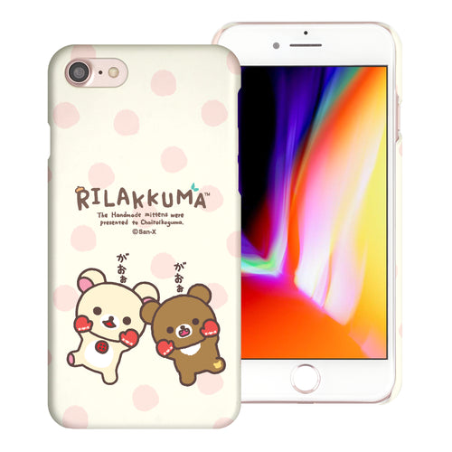iPhone SE 2020 / iPhone 8 / iPhone 7 Case (4.7inch) [Slim Fit] Rilakkuma Thin Hard Matte Surface Excellent Grip Cover - Chairoikoguma Jump
