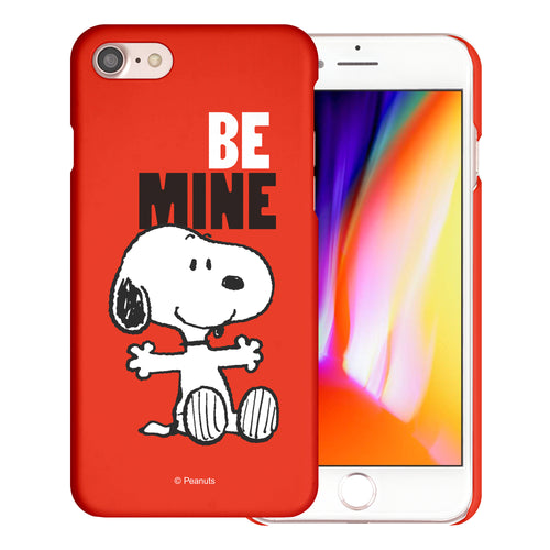 iPhone 6S / iPhone 6 Case (4.7inch) [Slim Fit] PEANUTS Thin Hard Matte Surface Excellent Grip Cover - Snoopy Be Mine Red