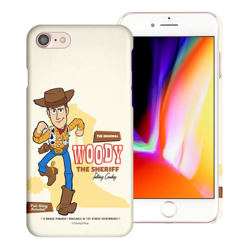 iPhone 8 Plus / iPhone 7 Plus Case [Slim Fit] Toy Story Thin Hard Matte Surface Excellent Grip Cover - Full Woody