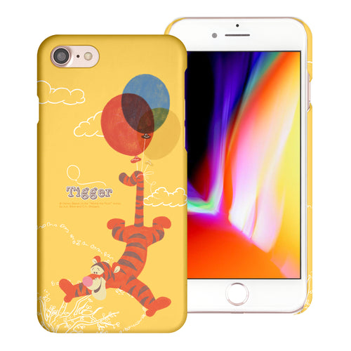 iPhone SE 2020 / iPhone 8 / iPhone 7 Case (4.7inch) [Slim Fit] Disney Pooh Thin Hard Matte Surface Excellent Grip Cover - Balloon Tigger
