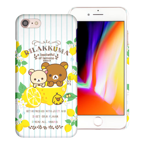 iPhone SE 2020 / iPhone 8 / iPhone 7 Case (4.7inch) [Slim Fit] Rilakkuma Thin Hard Matte Surface Excellent Grip Cover - Rilakkuma Lemon